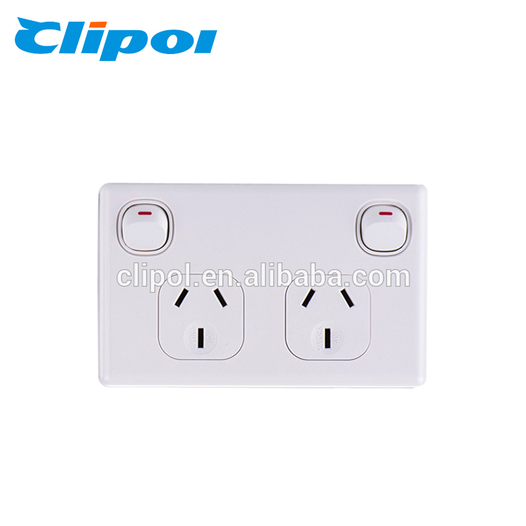 Australia standard 250V 10A SAA double power outlets