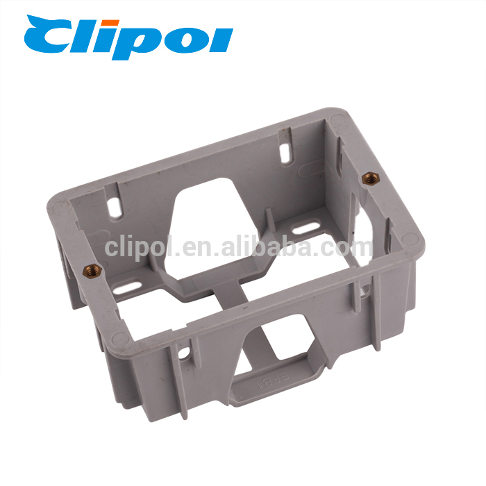 Recess mount box electronic part plastic flush mount wall box