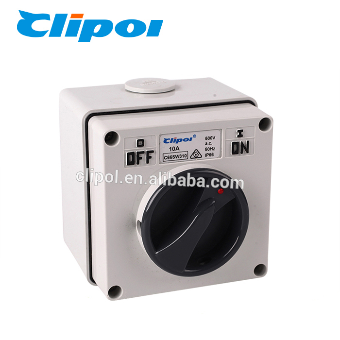 Electrical 500V 3 pole manual universal changeover rotary switch