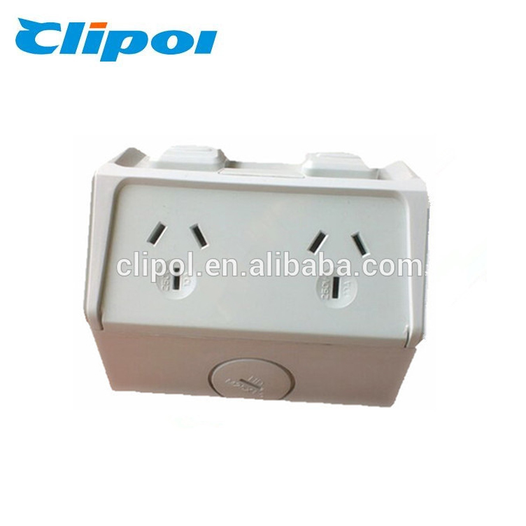 Australia 250V 10A double powerpoints SAA waterproof outdoor socket