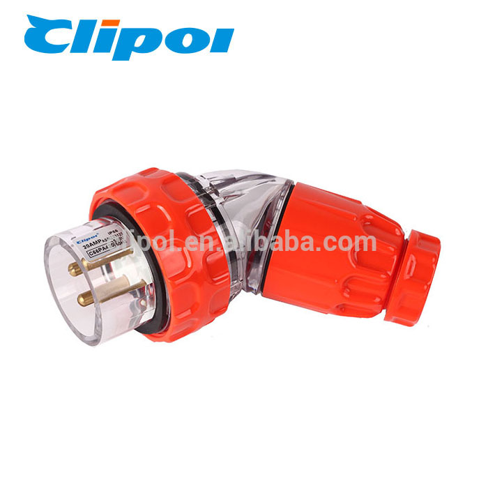 Connectors plug high temperature resistance 4 pin 20 amp electrical plug adapter