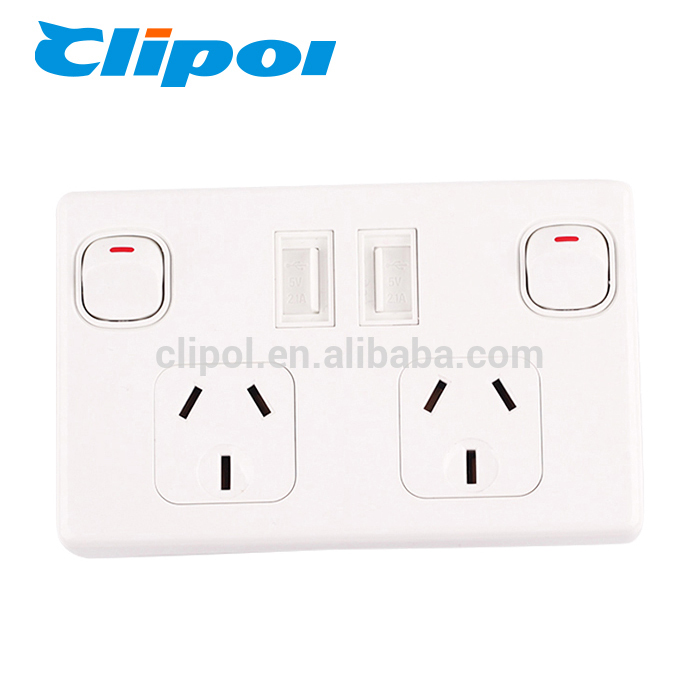 Usb wall socket outlet 5V 2.1A AS/NZS Australia electrical USB power socket