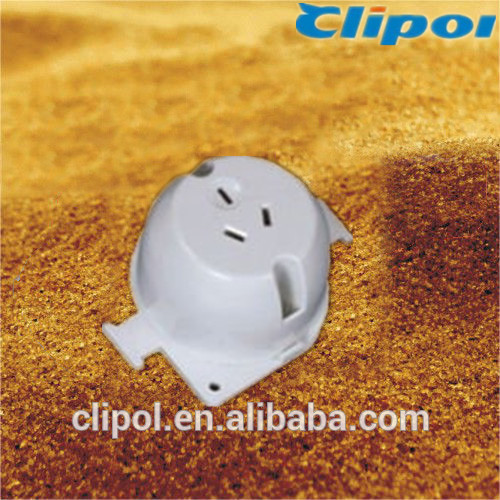 Gold supplier SAA plug bases 250V 15A Australia surface socket SS115