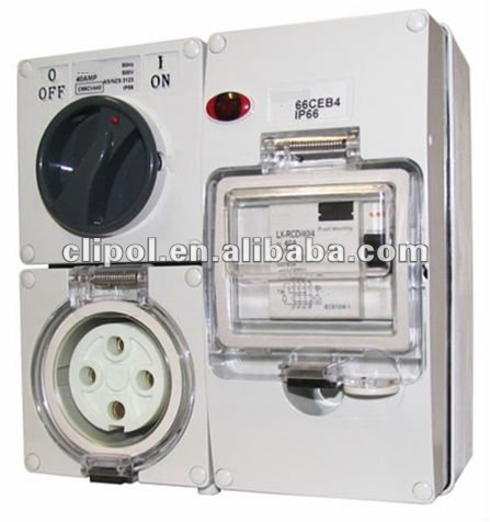 RCD Protected outlets/combinational switched socket