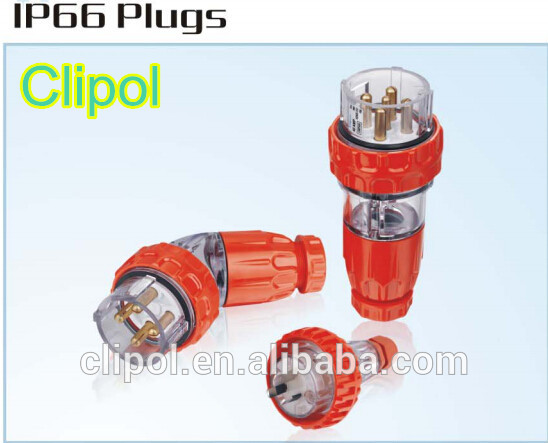On top sale plug Australia IP66 3pin 10A straight Industrial plug Clipol