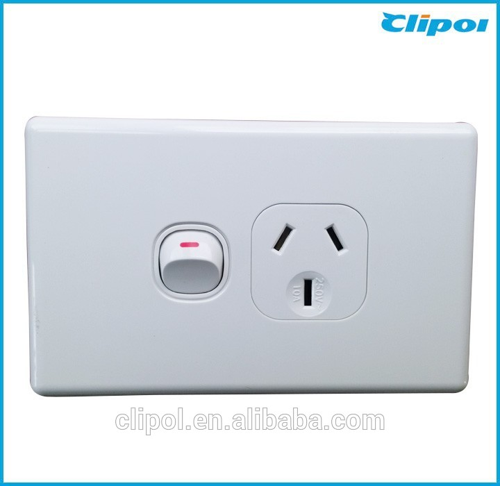 SAA Approved 250v 10A wall switches light switches Australian standard powerpoint