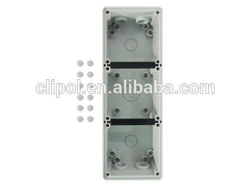 RCD cover PC 3 gang Mounting Enclosure C66MEB3