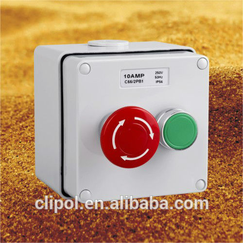 IP66 Emergency stop control and start station Combination stop/start control station