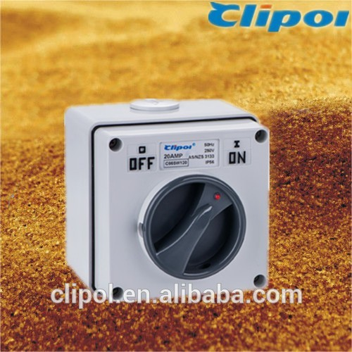 Australia durable surface switch 2Pole 20A surface switch