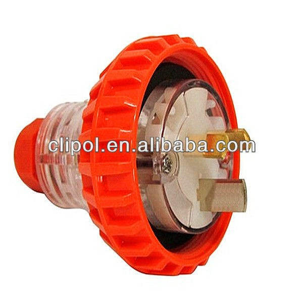 250V 10A Australian Waterproof Electrical Plug With SAA