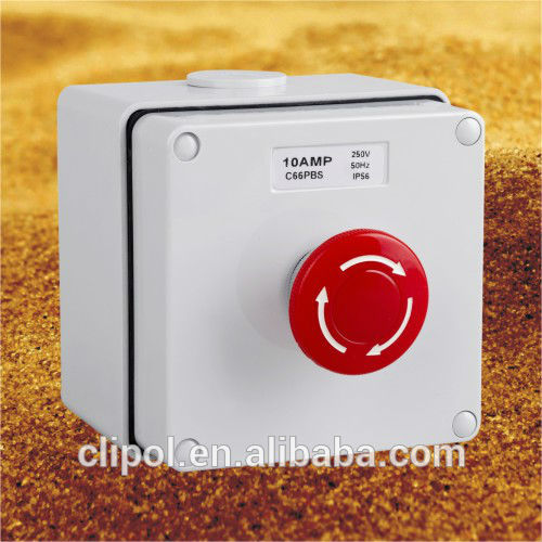 IP66 Emergency Stop Push Button Control Station Australian Approved