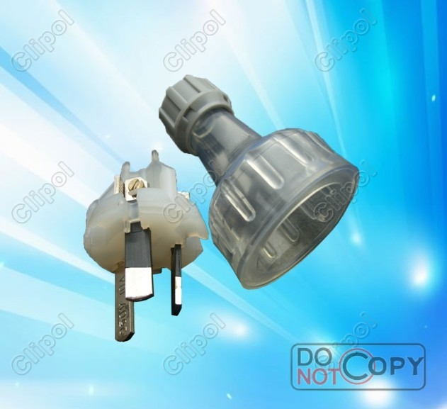 10A or 15A Clear Rewireable plug