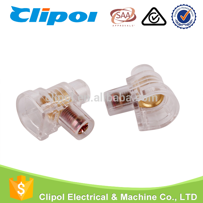 Single screw insulated cord end terminals electrical connectors