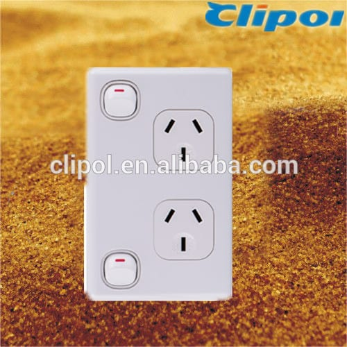 Australia high reputation 250V 10A vertical double power outlet Clipol