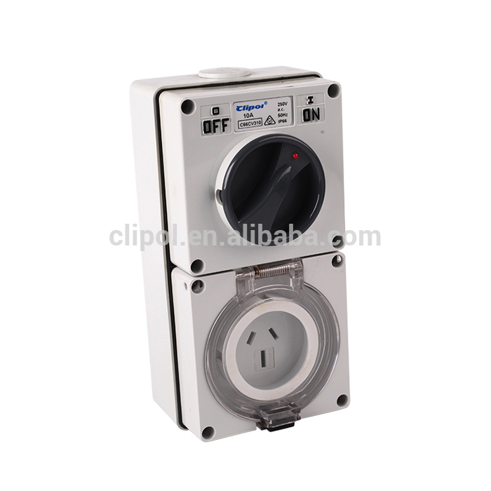 Featured products style on top sale switched socket 3 flat pin 10A switched socket