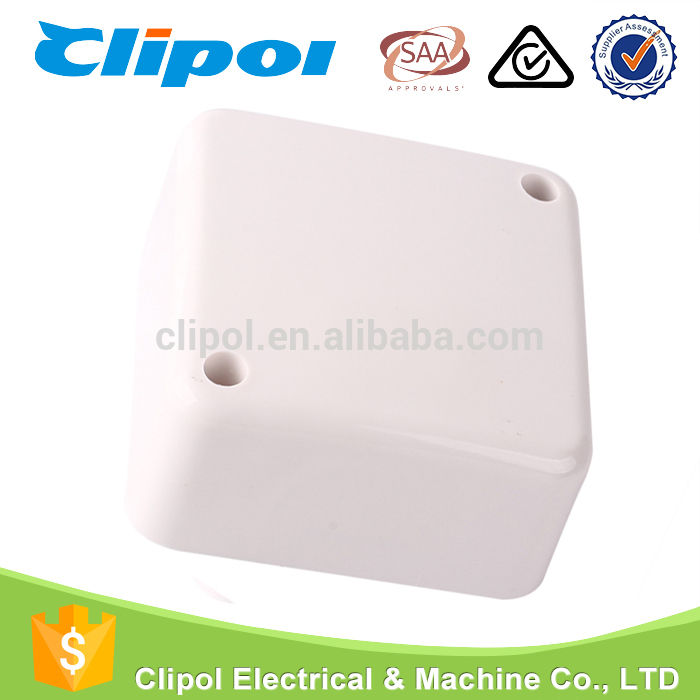 White Small PC Electric Junction Box With Connectors