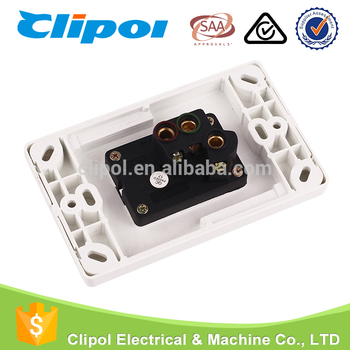 Wall socket switch three hole single gang horizontal on off air conditioner switch