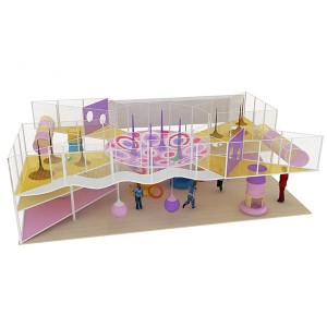 Rainbow maze net for kids
