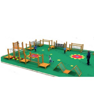 Wooden outdoor playground on the street DFC306-1