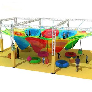 Honeycomb climbing net for the children's center CNF-D11902