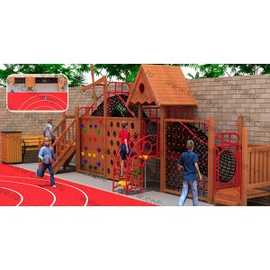 Wooden outdoor playground in the villaLDX0061-2