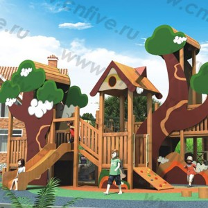 Wooden outdoor playground on the street DFC299-2