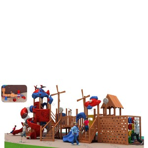 Wooden outdoor playground on the streetLDX0059-1