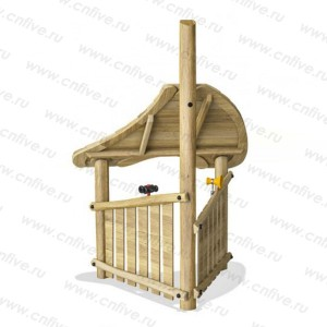 Chinese wholesale Wooden outdoor playground for kids -