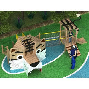 Wooden outdoor playground on the street DFC302-2