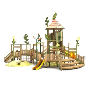 Wooden outdoor playground on the street DFC297-1