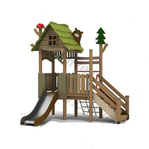 Wooden outdoor playground on the street DFC298-3