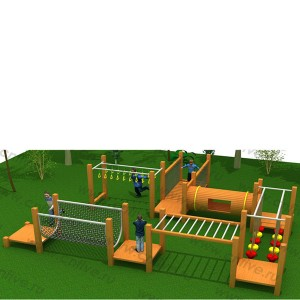 Wooden outdoor playground on the street DFC306-2