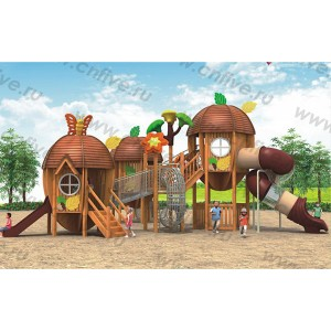 Wooden outdoor playground in the villa DFC300-1