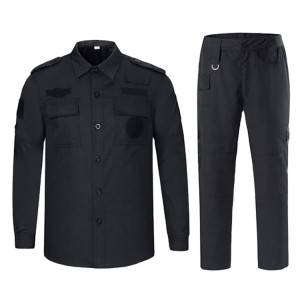 High quality design security guard uniform suit blue uniform security black security uniform set for man