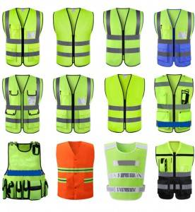 High visibility safety vest military reflective vest reflective safety work
