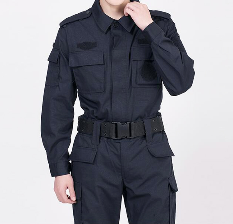 Customized Men's Security Guard Dress Uniform,Cheap Security Shirt With Long Sleeve
