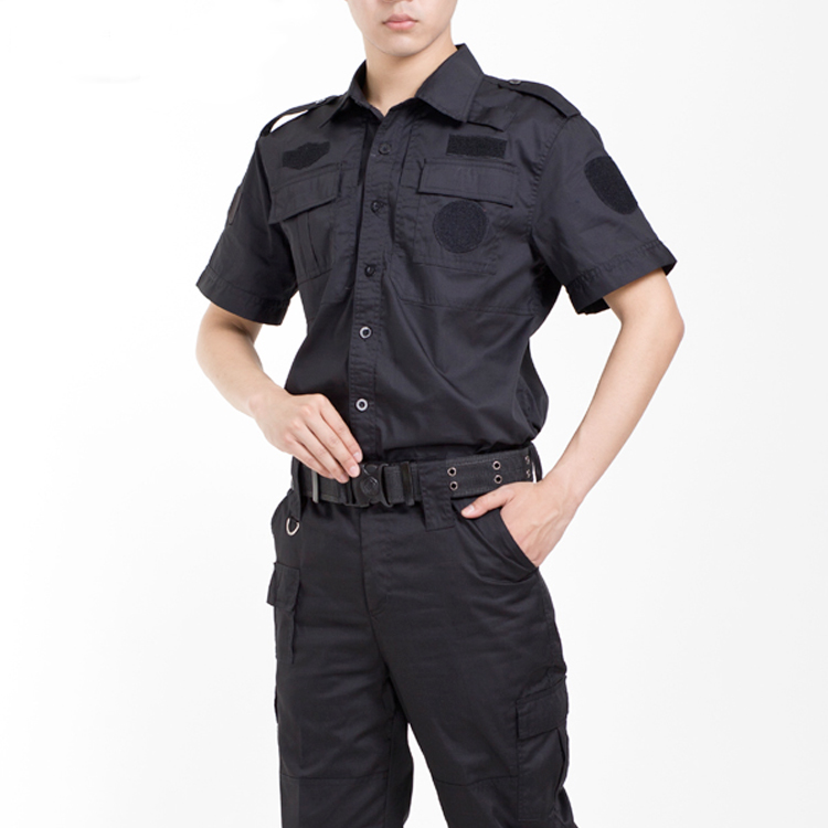 Wholesale design security guard uniform twill custom guard work wear security uniform