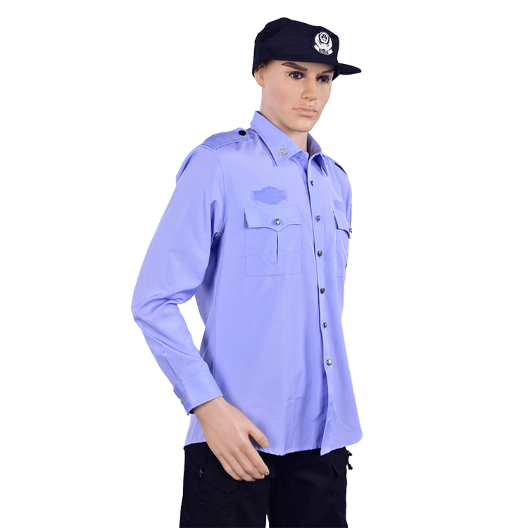 Wholesale design long sleeve security uniform shirt men security guard dress/ uniform