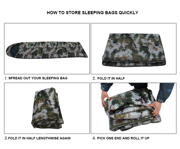 China Cheap price Military Water Bag – Wholesale  camouflage outdoor sleeping bag outdoor waterproof warm climbing army sleeping bag – Junyiku