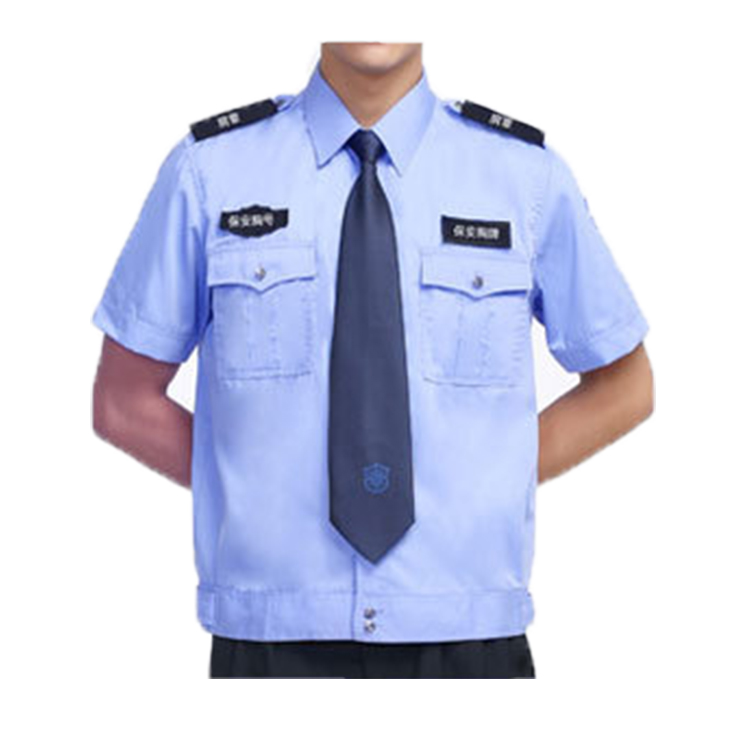 Wholesale short sleeve custom logo  cheap design security guard uniforms