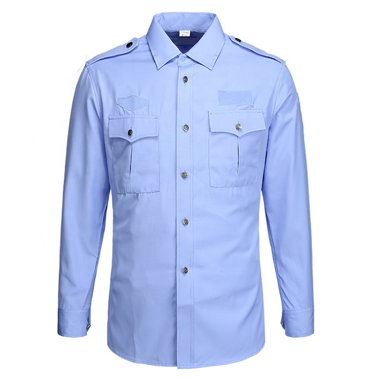 Wholesale quality security uniform long style autumn security uniform shirt