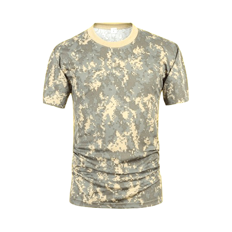Factory wholesale army uniform muscle shirt for men  camouflage T Shirt