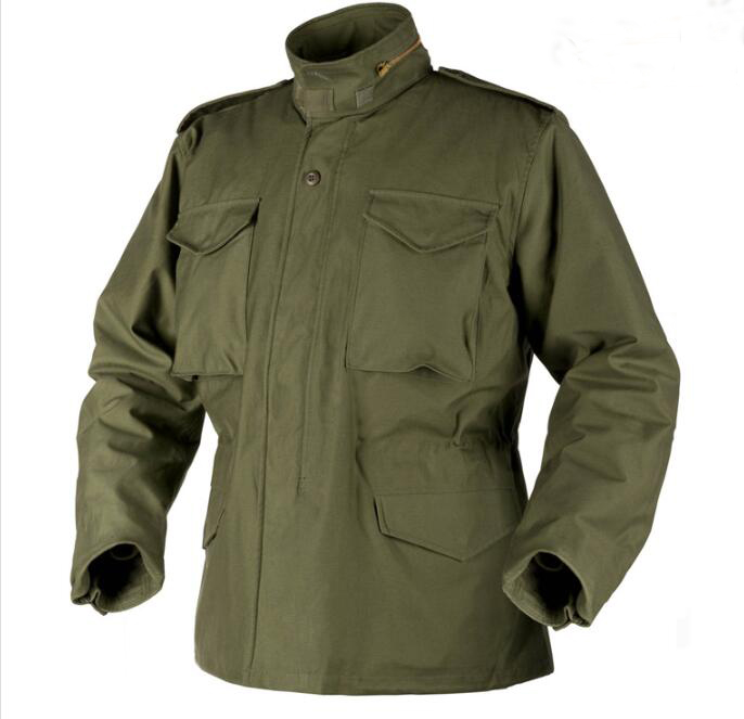 Wholesale Army m65 army jacket plain green military uniforms,army style jacket Featured Image