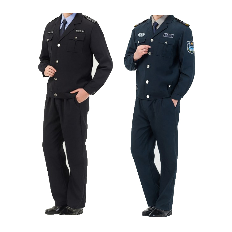 High quality long sleeve security clothing custom logo security guard uniforms