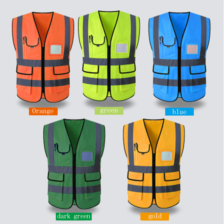 Elastic Led Reflective Vest Reflective Safety Vest With Pockets