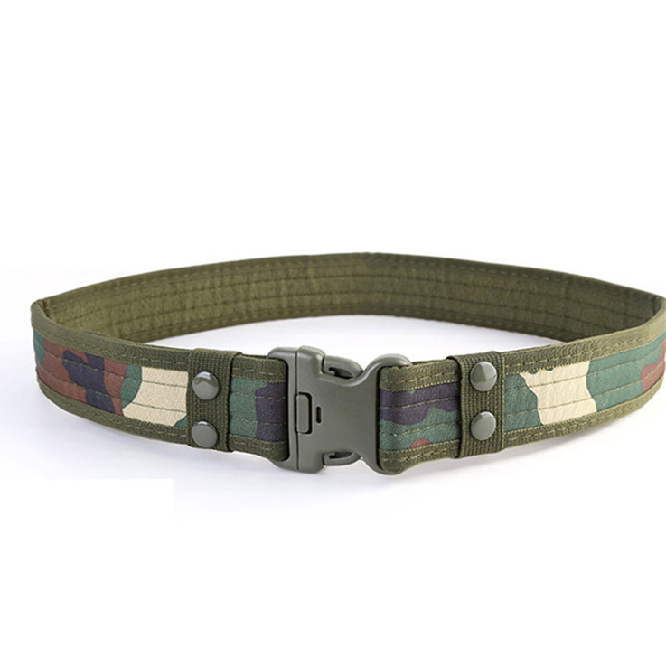 Wear-resistant Oxford Army Green Camouflage Military Tactical Belt
