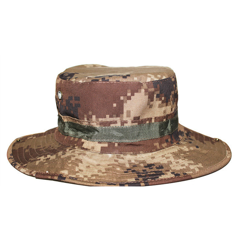 Round-edged cloth camouflage military officer user cap military hat