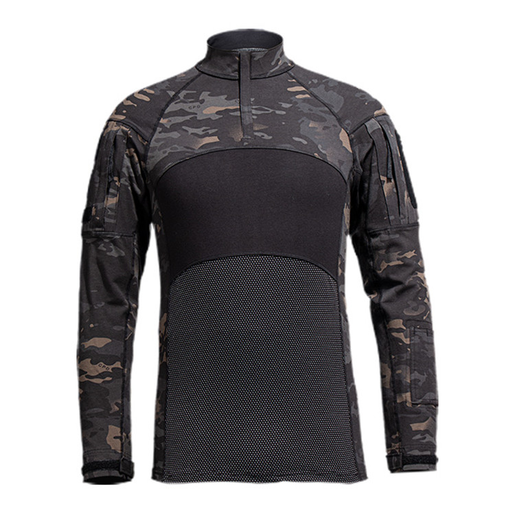 OEM Wholesale Long sleeve black hunting camouflage clothing tactical army suit