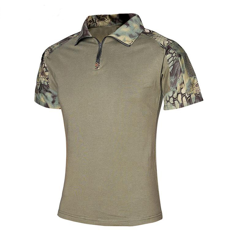Fixed Competitive Price Military Equipment Supplier – 100% cotton Custom Camo Men T Shirt Military Mens Polo Shirt  Army Military T- Shirts  in factory price – Junyiku