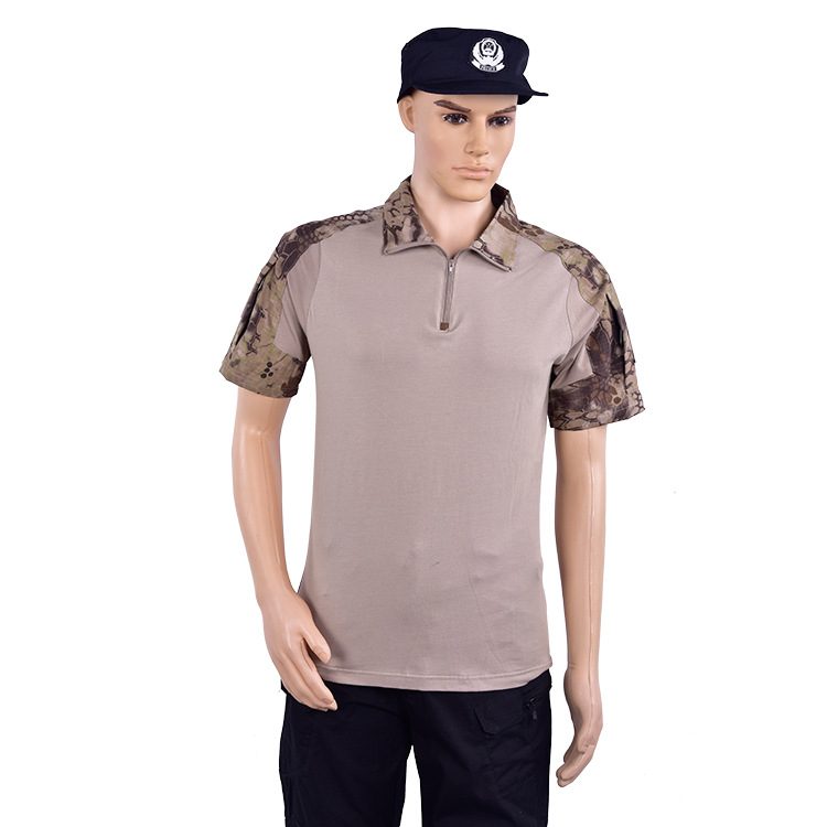 Factory wholesale  Camouflage Outdoor Uniform Tactical Military Army T Shirt